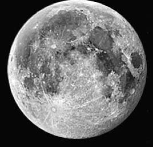 moon surface contain ice