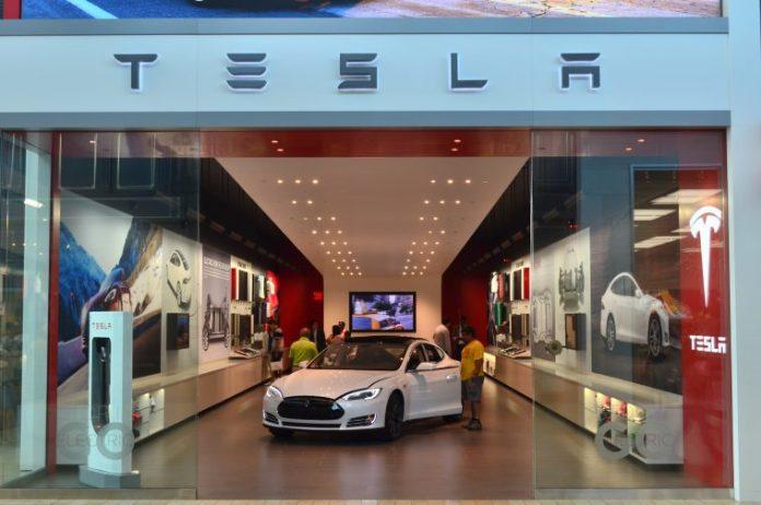 areflect Tesla
