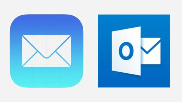 Outlook Gmail and Apple mail services