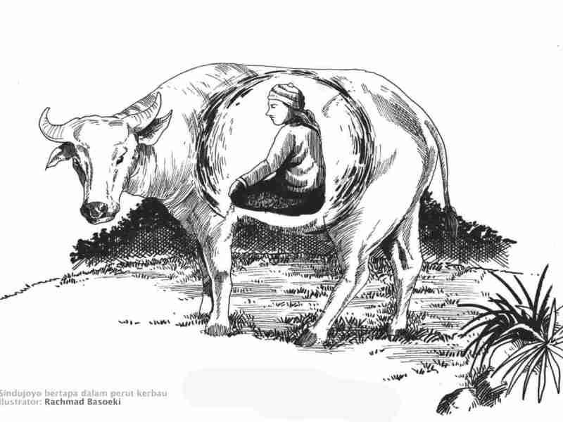Sindujoyo bertapa dalam perut kerbau