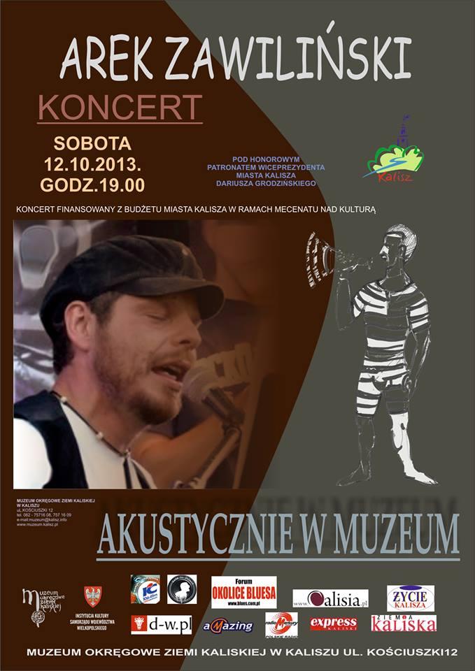 arek_zaawilinski_akustycznie_w_muzeum_kalisz_plakat