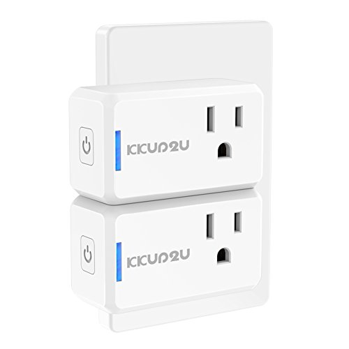 Smart Plug 2-Pack Upgraded Mini WiFi Smart Socket Outlet