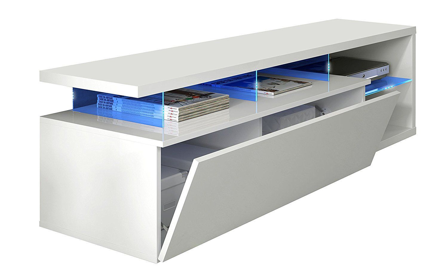 Muebles Led Mueble Tv Led Tech Blanco Brillo Arelwood