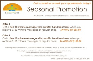 Massage Therapy Seasonal Promotion