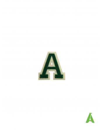 embroidered letters numbers colour