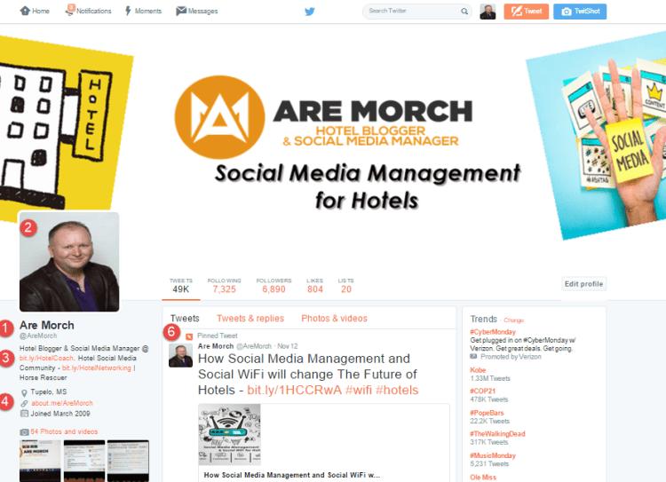 Hotel Twitter Profile