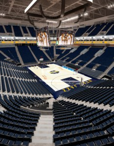 Vivint smart home arena renovation rendering also to feature blue cushioned seats digest rh arenadigest