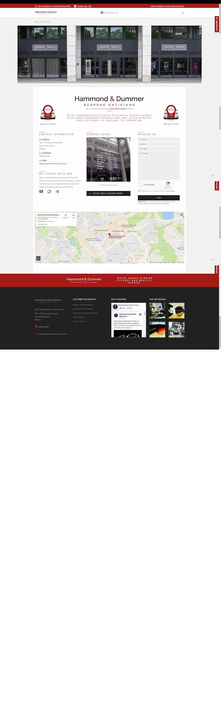 Web design screen capture