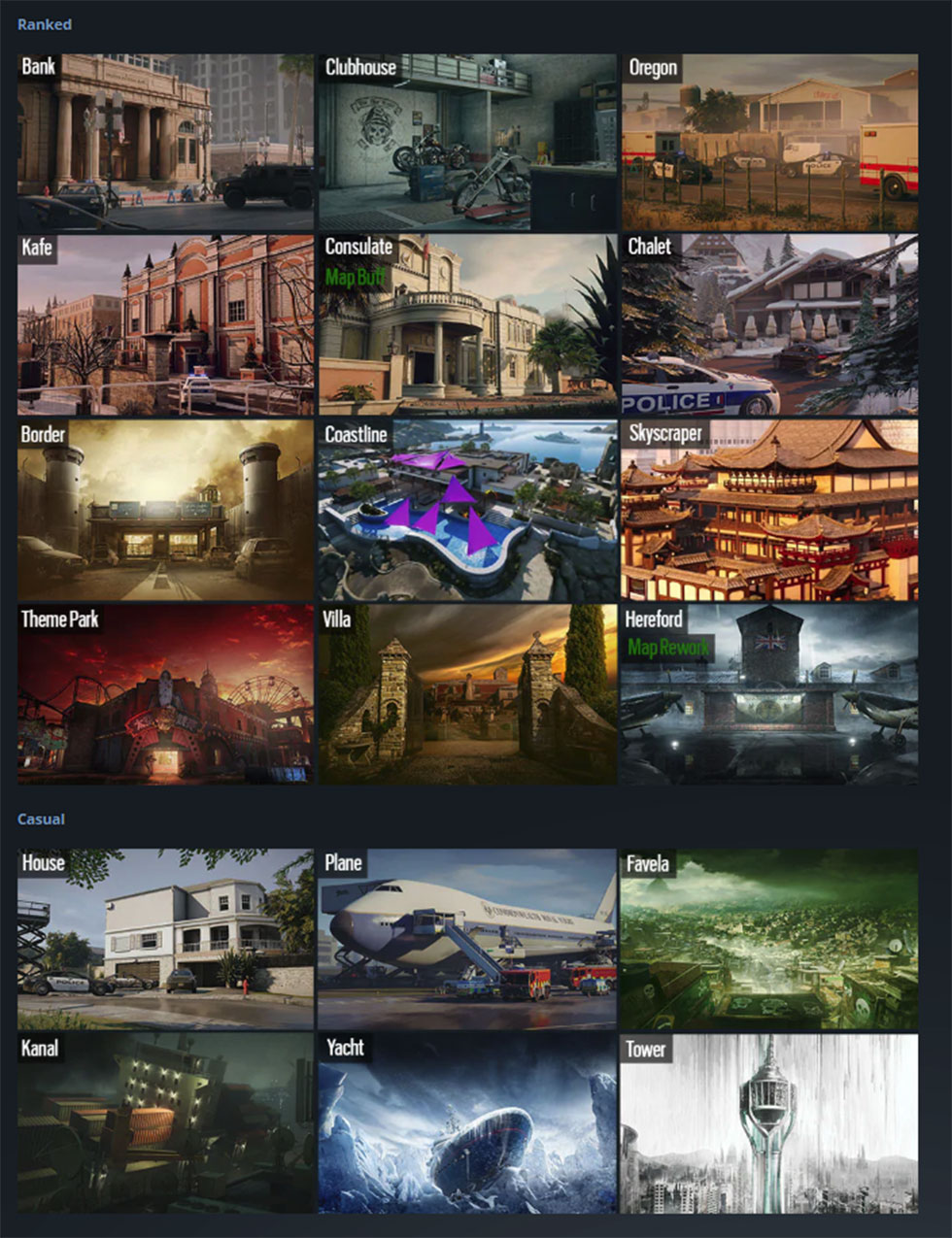 Rainbow Six Siege Maps Layout : rainbow, siege, layout, World, Library, Complete, Resources: