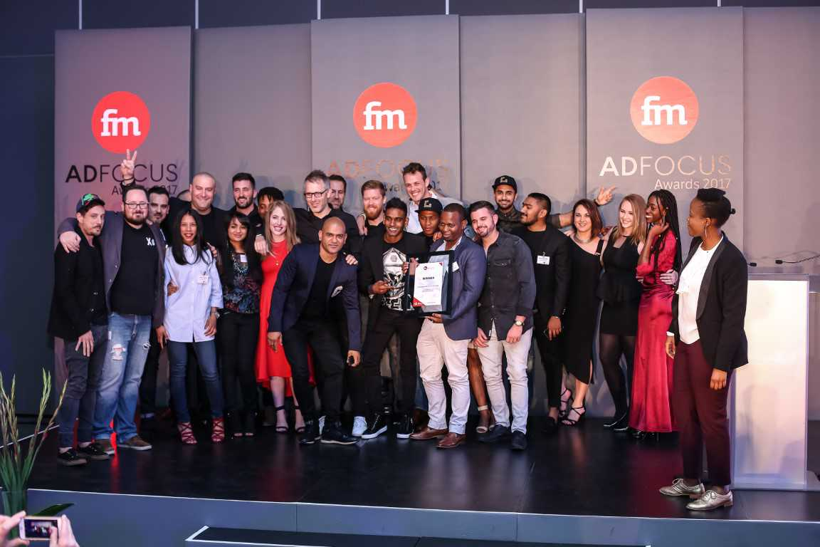 Photo from Financial Mail AdFocus Awards in 2017