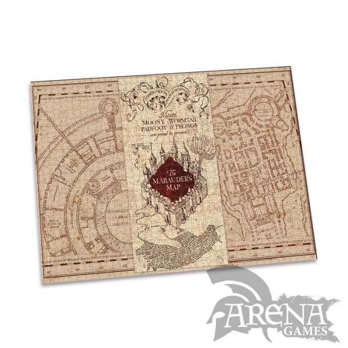 Puzzle 1000 piezas – Harry Potter – Mapa del Merodeador