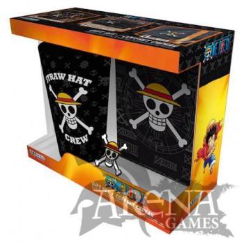 One Piece – Caja Regalo – Pack Vaso XXL 400 ML + Pin + Libro de notas Skull
