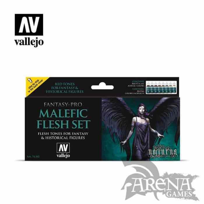 Vallejo – Set: Fantasy-Pro Malefic Flesh – 74102
