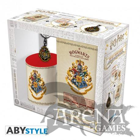 Harry Potter – Caja Regalo – Pack Taza 320 ML + Llavero + Block de notas Hogwarts – Harry Potter