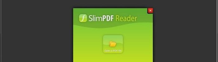 SumatraPDF si SlimPDF Reader