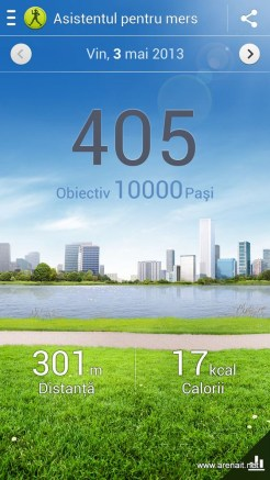 Samsung Galaxy S4 - S Health - Asistentul pentru pasi