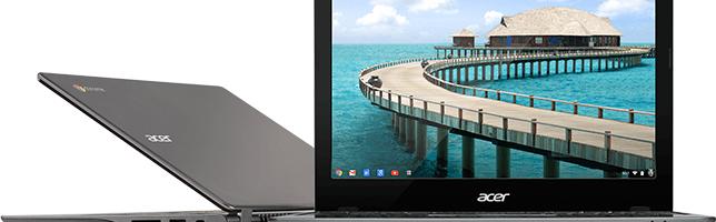 Acer C720P, Chromebook cu touchscreen