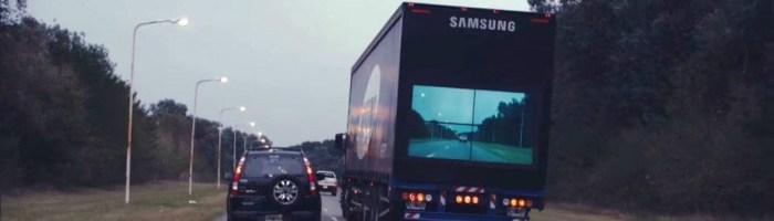 Samsung Safety Truck-cum poti face o depasire fara sa iti pui viata in pericol