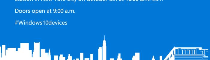 Surface Pro 4 si noile Lumia-uri vin pe 6 octombrie