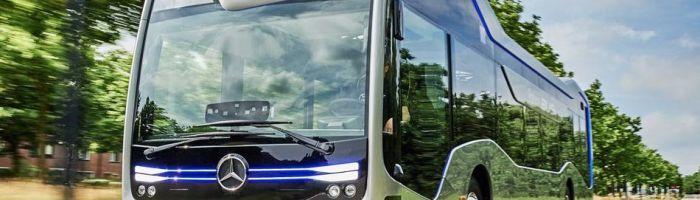 Autobuzele autonome Mercedes calatoresc pe drumurile publice