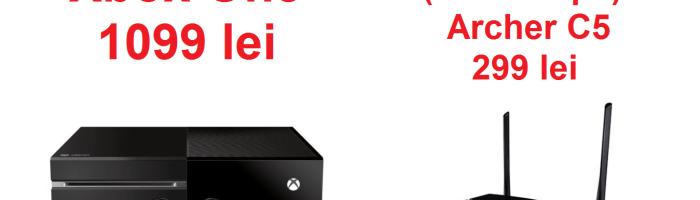 Ofertele zilei: Xbox One 500 GB la 1099 lei, router Archer C5 la 299 lei