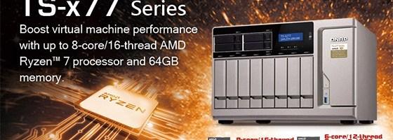 QNAP are primul server NAS cu procesor AMD Ryzen
