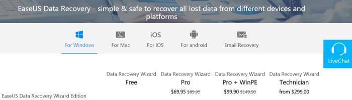 EaseUS Data Recovery - soft prin care iti poti recupera fisierele sterse
