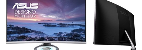 ASUS a lansat monitorul Designo Curve MX32VQ