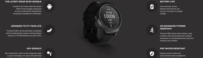 Mi-am comandat Ticwatch E, cel mai ieftin smartwatch cu Android Wear 2