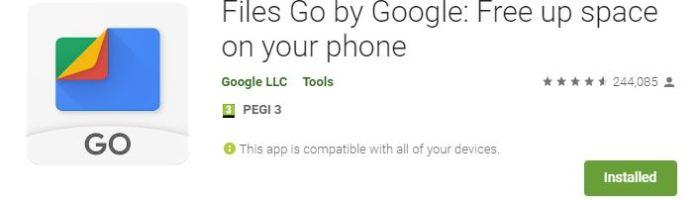 Files Go – aplicatie Android de la Google pentru managementul spatiului
