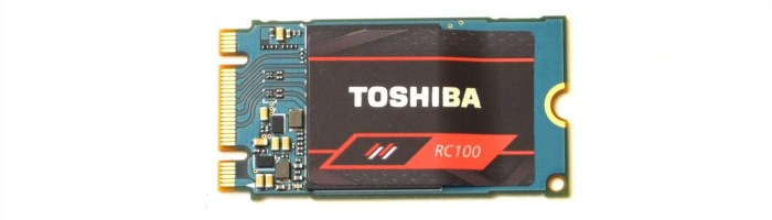 Review Toshiba RC100 – SSD NVMe de buget