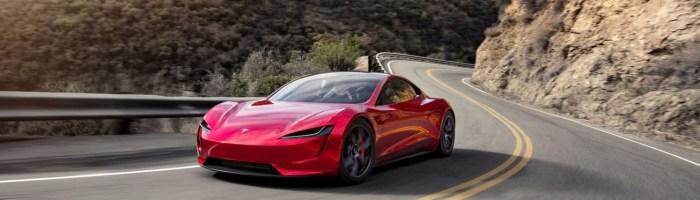 Imagini noi cu Tesla Roadster