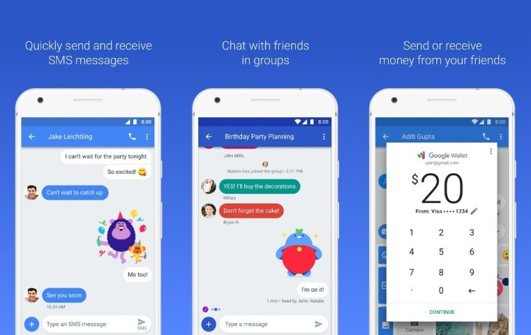 Android Messages a primit Material Design