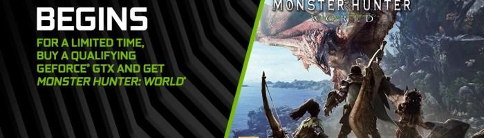 Jocul Monster Hunter: World este oferit gratuit la achizitionarea unei placi video Nvidia GTX