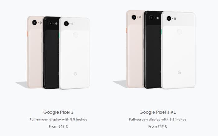 Google Pixel 3 si 3 XL lansate: nicio surpriza la design, doar pe partea de software