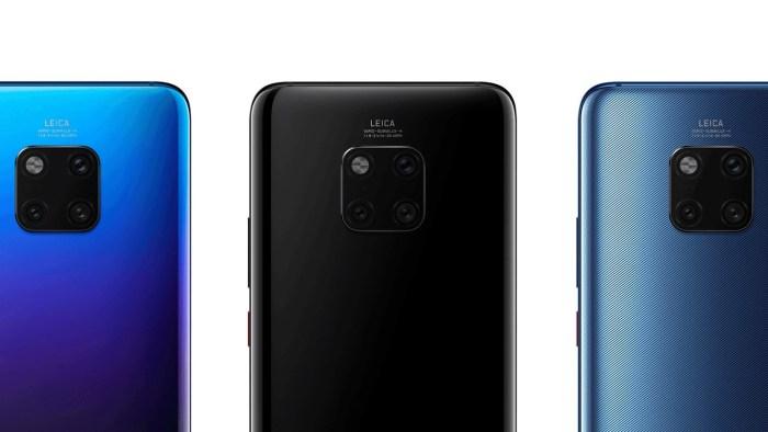 Huawei Mate 20 si Mate 20 Pro au fost lansate - senzor de amprenta in ecran si 3 camere principale