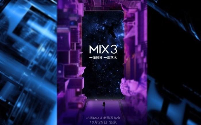 Xiaomi Mi Mix 3 vine cu 10GB memorie RAM si suport 5G