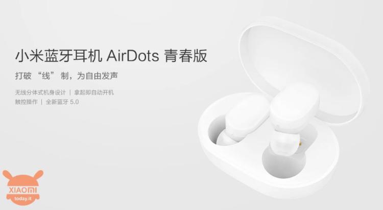 Xiaomi a dezvăluit Mi AirDots Youth Edition - căști Bluetooth în stilul Apple Airpods la doar 30 dolari