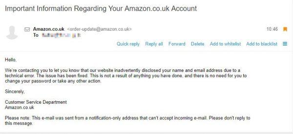 Amazon da vina pe probleme tehnice pentru scaparile de securitate