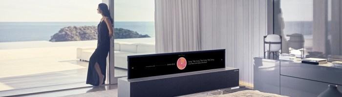 CES 2019: LG a prezentat primul televizor rulabil din lume