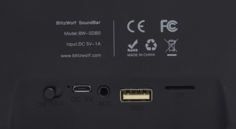 Review mini soundbar Blitzwolf BW-SDB0