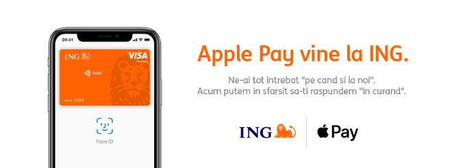 Apple Pay vine în România prin ING