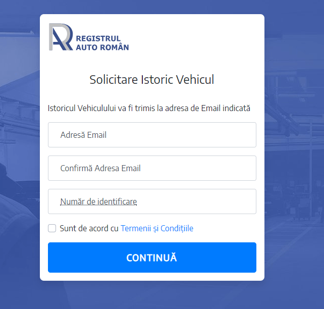 RAR-ul a facut o aplicatia gratuita unde poti sa iti verifici istoricul masinii