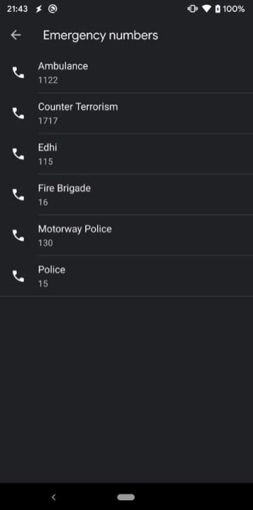 numere urgenta google contacts