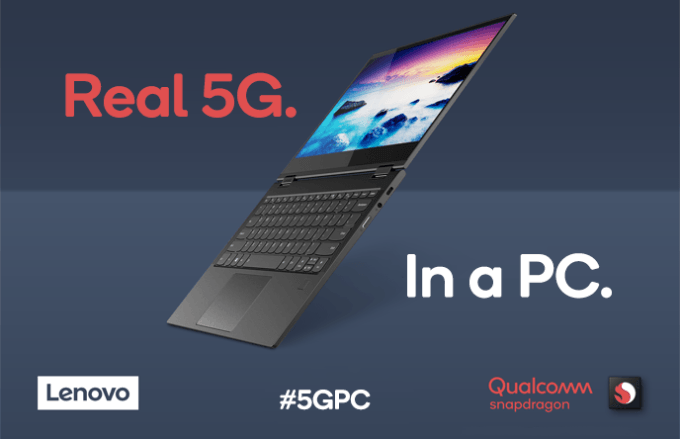 Lenovo a prezentat un laptop cu platforma Qualcomm si 5G