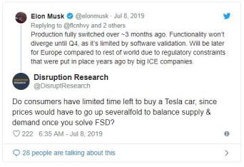 Elon Musk Tweet on selling cars2