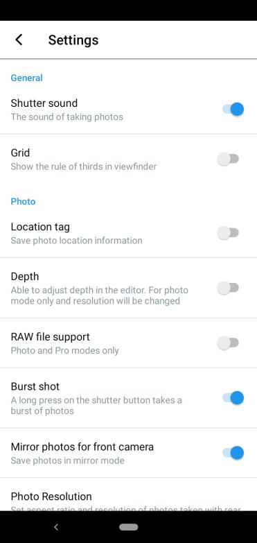 Nokia 4.2 camera settings1