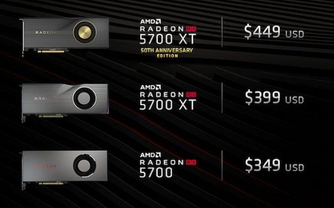 Preturile oficiale pentru Radeon RX 5700