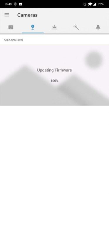 Cameră Kasa Spot firmware update2