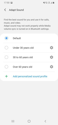 Samsung A20e_Sound_Settings_Adapt sound